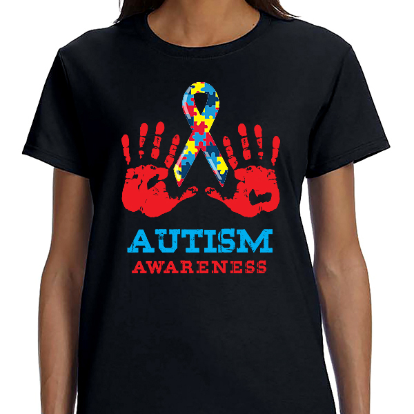 Austism Awareness - Hands Ribbon