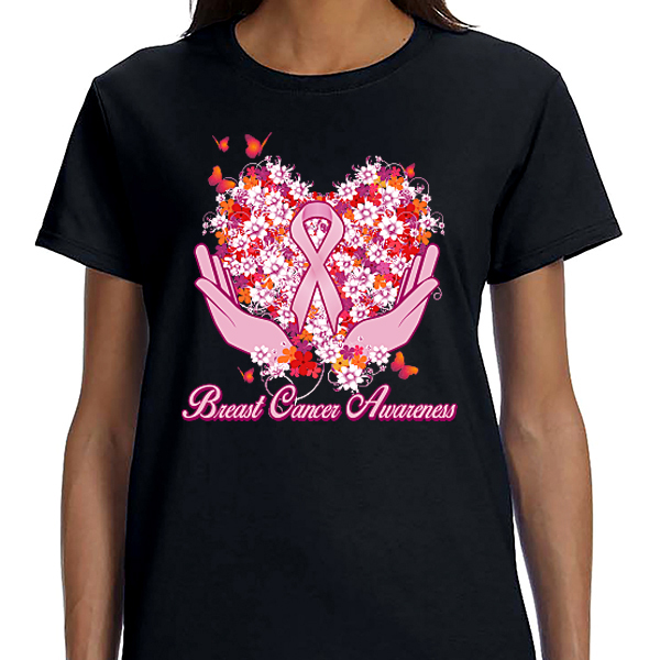 Breast Cancer Awareness - Heart and Hands
